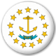 Rhode Island State Flag 25mm Pin Button Badge
